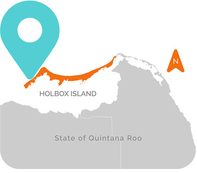 Lifestyle Kiteboarding Holbox Location Map